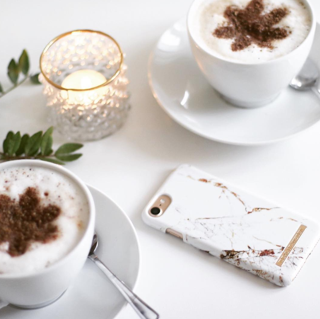 @ tereseandersson carrara gold, ideal of sweden, marble case, iphone case. Coffee inspiration, cosy moment
