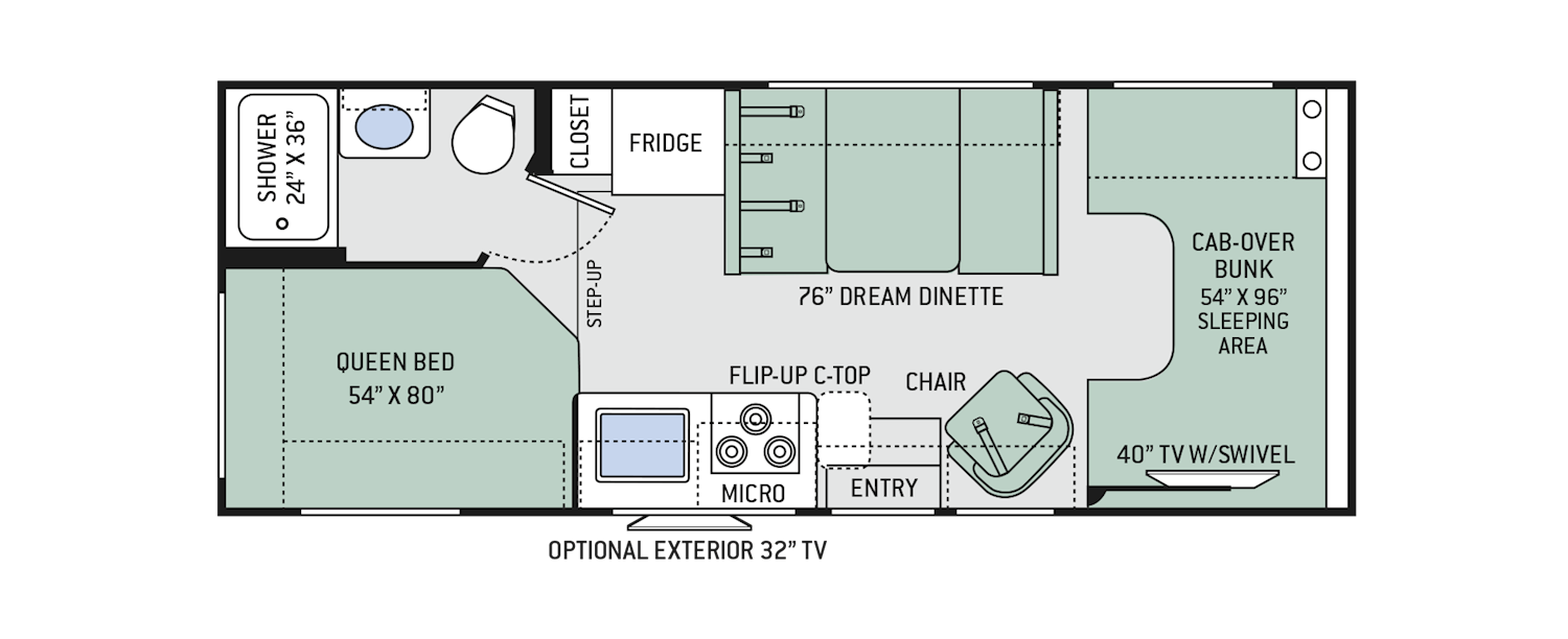 Four Winds Class C Motorhomes Floor Plans Thor Motor Coach Rv Floor Plans Floor Plans Motorhome Interior