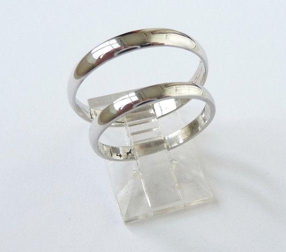 white gold wedding band set womens wedding ring mens wedding band classic ring 3mm wide