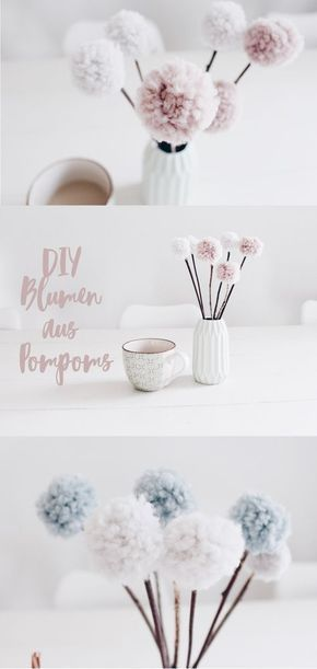 Photo of Pom Pom Blumen – Tischdekoration mal anders