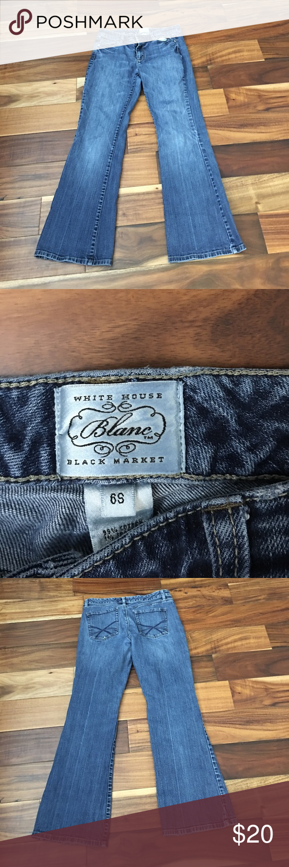 White House black market jeans Mint condition. No tears or stains. These are 6short White House Black Market Pants
