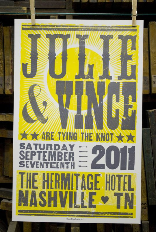 Hatch Show Print Wedding Poster With Images Concert Themed Wedding Concert Poster Invitation Printing Wedding Invitations