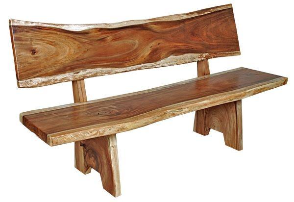Natural Wood Furniture Slab Bench Item B00605 Rustic Wood Furniture Natural Wood Furniture Natural Furniture