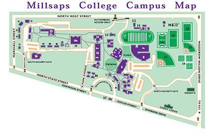 Campus Map Millsaps College Chandler Pinterest Campus Map
