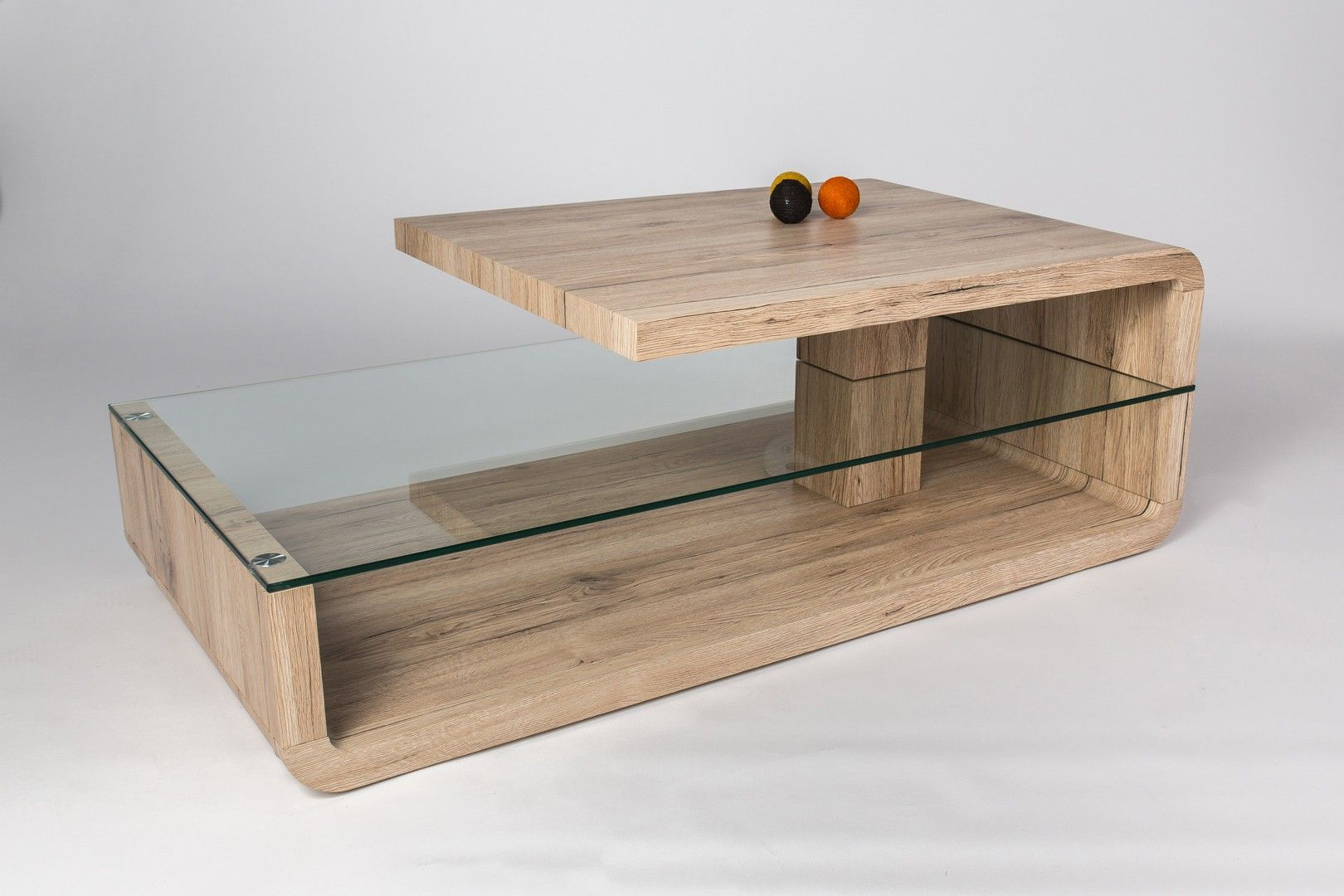 Table Basse Design Bois Et Verre Chene Sable Galati Table Basse Design Bois Table Basse Design Table Basse Bois