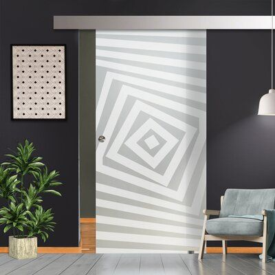 SW10864-O-Right Handing*Single Sliding Glass Barn Door With …