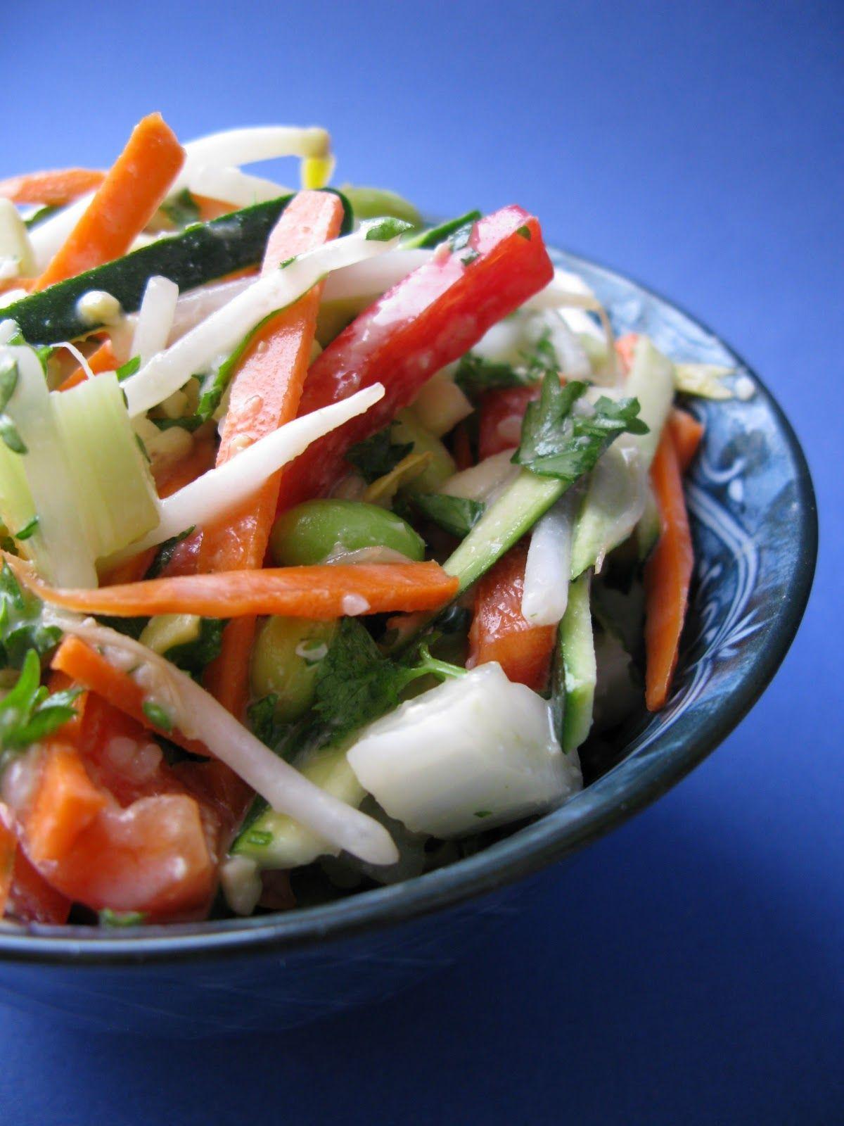 Au gré du marché: Salade d'edamame aux légumes croquants et sa vinaigrette au miso