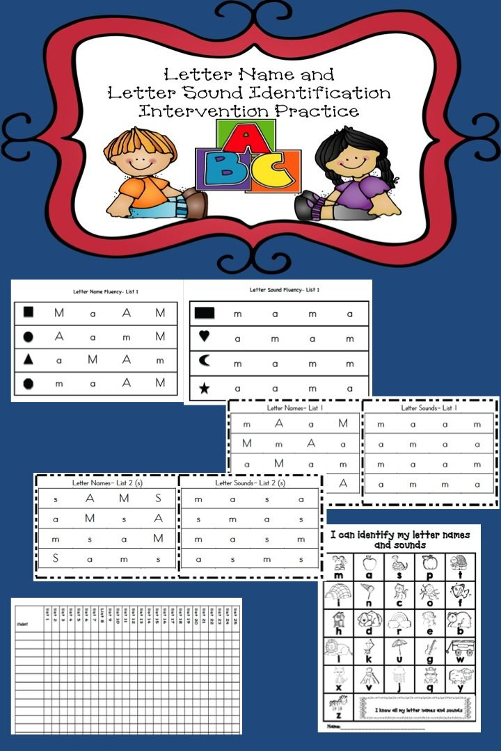 Letter Names and Letter Sound Identification Practice