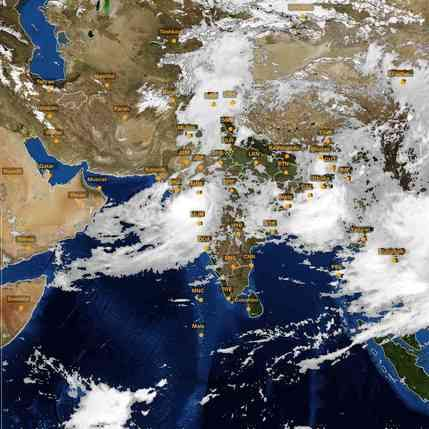 Skymet Weather Map Pin by Skymet Weather Services private limited on Satellite  Skymet Weather Map
