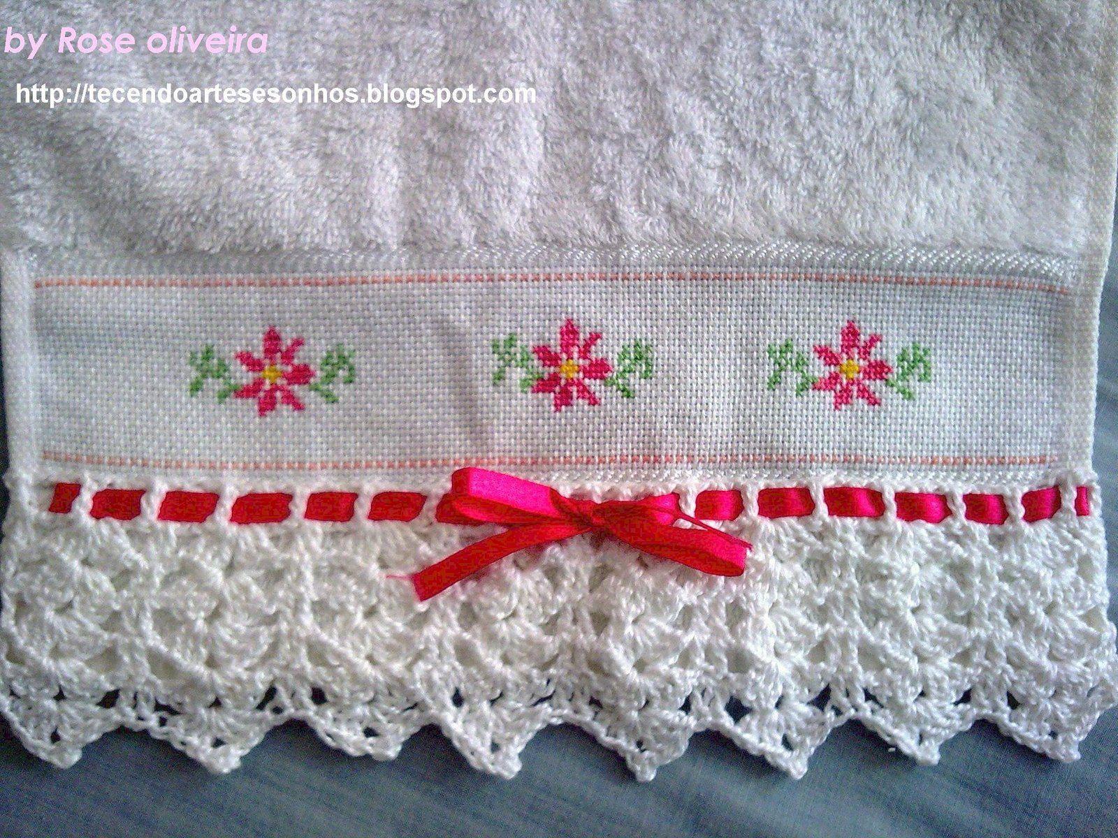 Atractivo Patrón De Crochet Toallita Bandera - Manta de Tejer Patrón ...