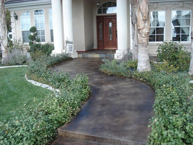 colored concrete entry brown stained concrete walkway concrete entryways woolley 39 s concrete. Black Bedroom Furniture Sets. Home Design Ideas