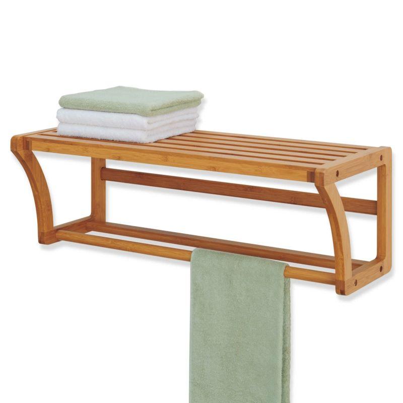 Handtuchhalter Aus Holz 40 Diy Ideen Designer Modelle Handtuchhalter Holz Bambus Regal Bambus Badezimmer