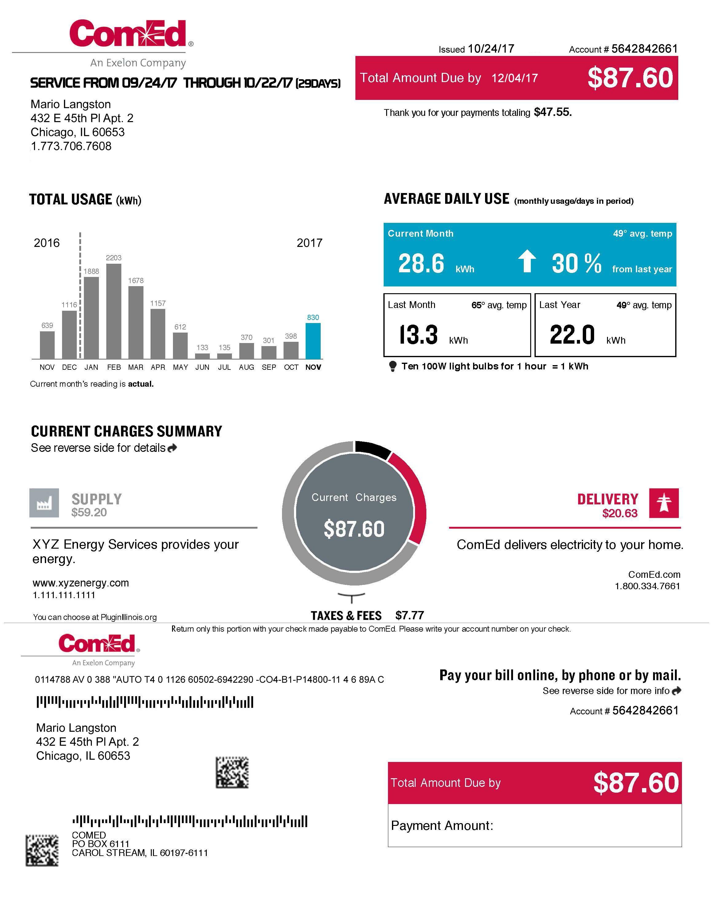 Comed bill pay images e993. Com.