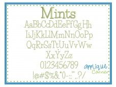 Mints Embroidery Font