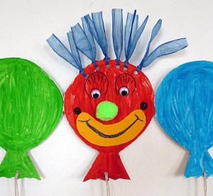 faschingsgirlande luftballons fasching basteln meine. Black Bedroom Furniture Sets. Home Design Ideas