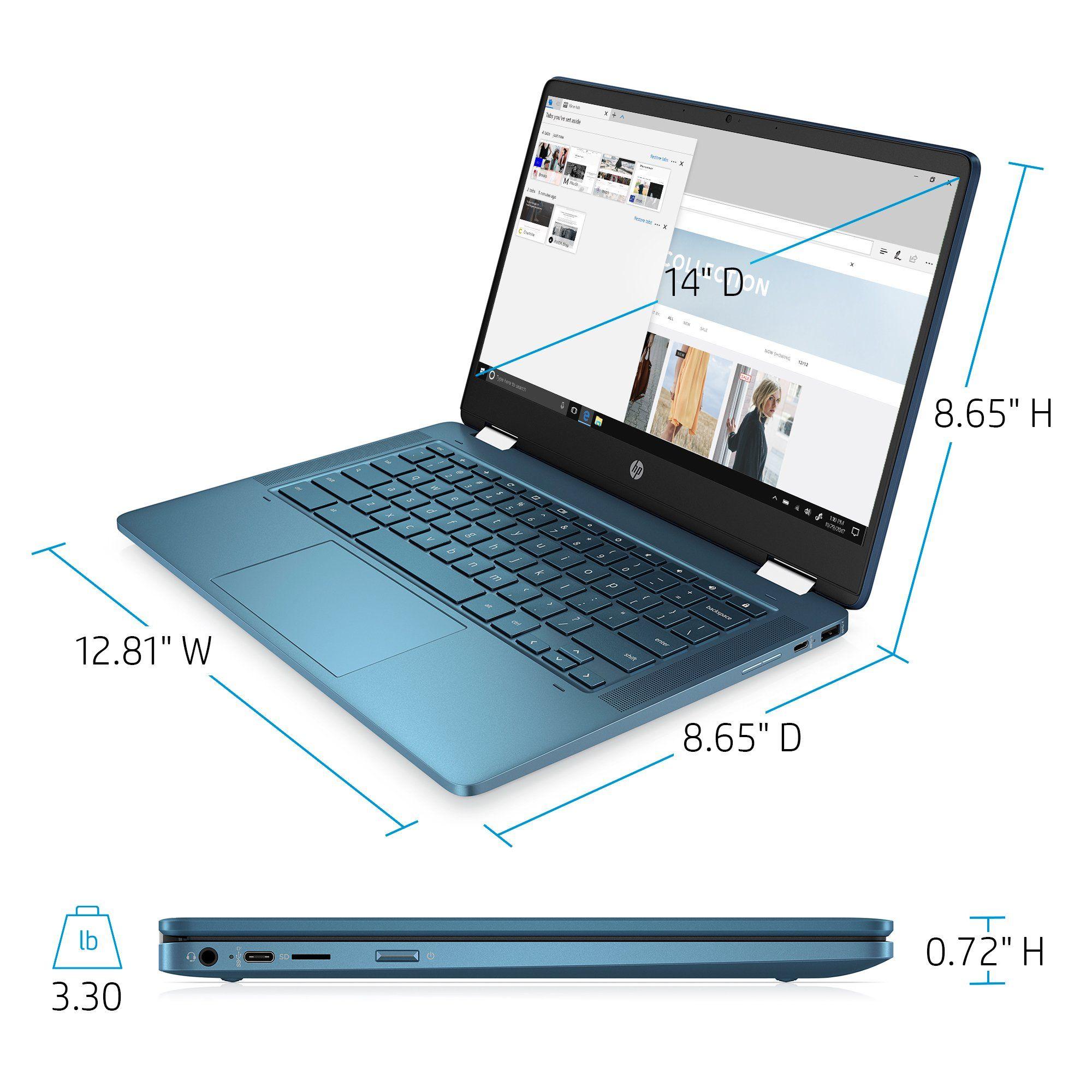 Hp 14 2 In 1 Touch Teal Chromebook Walmart Com In 2021 Chromebook Hp Chromebook Intel