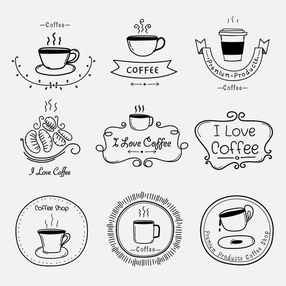 Photo of Artículos similares a Hand Drawn Coffee Shop Clipart Set, Coffee Logo Clipart, Coffee Shop Clipart, Coffee Doodle Clipart, Frame Clipart, Digital Download Clipart en Etsy