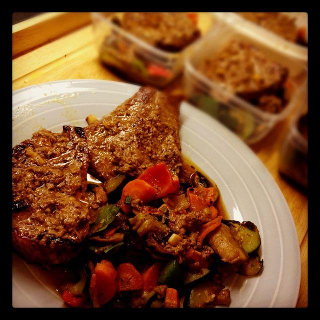 Good steak with vegetables!!