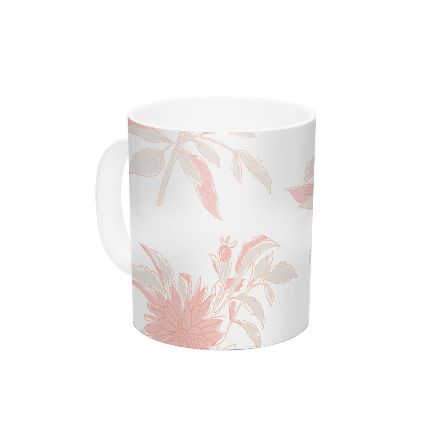 Pastel Fluers by Gukuuki 11 oz. Ceramic Coffee Mug