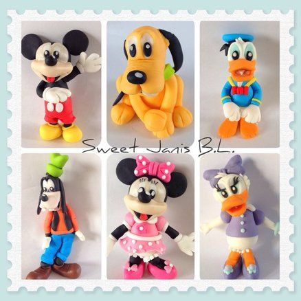 Cake Decorating Fondant Characters : 3D Figures - Mickey Mouse Club, all characters are made ...