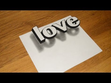 How To Drawing 3D Floating Letter A 2