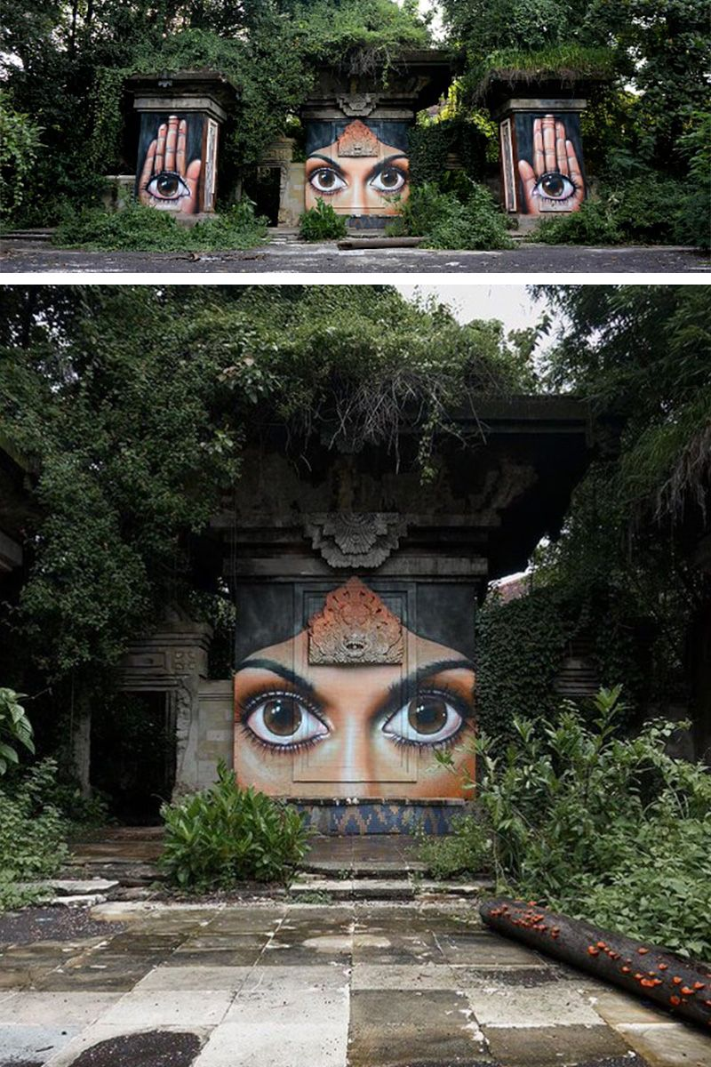 "Street artist: Voyder ""The lost world"""