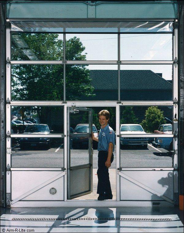 Pass Door Gas Station Garage Doors Glass Garage Door