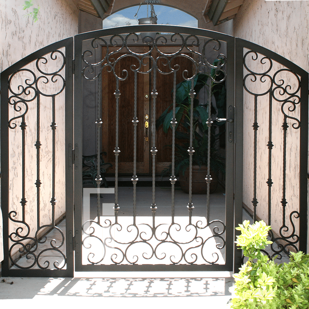 Valencia Iron Gate First Impression Ironworks Iron Gate Design House Gate Design Iron Gates