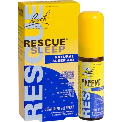 Bach Rescue Sleep Homeopathic Spray 0 7 Fl Oz Beige Flores De
