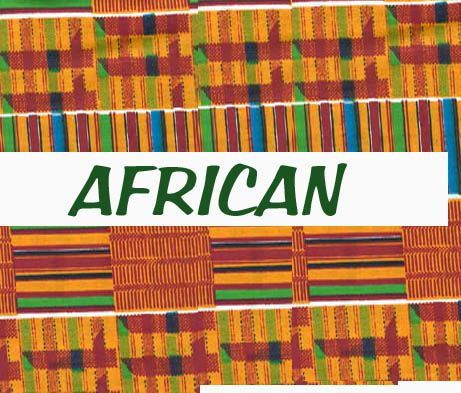 The hallmark of our company, the Unique Spool specializes in African fabrics. The colors are intense and vibrant. Some have gold metallic paint, others resemble mud cloth and a few are copies of Kente cloth. We have a minimum cut of half yards. If you're interested in smaller amounts, choose an African Fabric bundle.