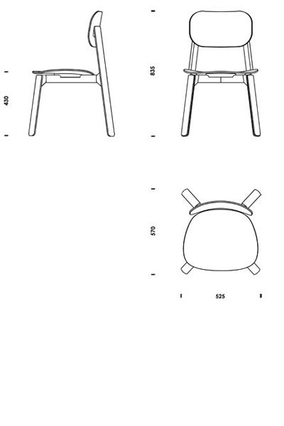 Download 2d 3d cad files bark chair download cad cad for Chaise lounge cad block free