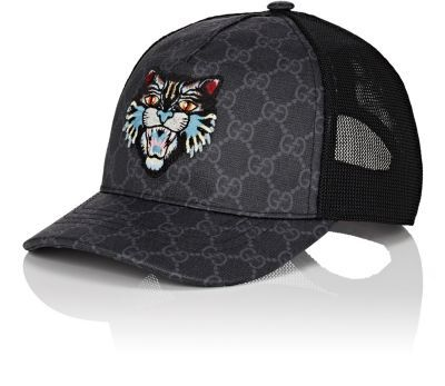 cb5153904c1f7 GUCCI Cat-Embroidered Gg Supreme Baseball Cap.  gucci  cap