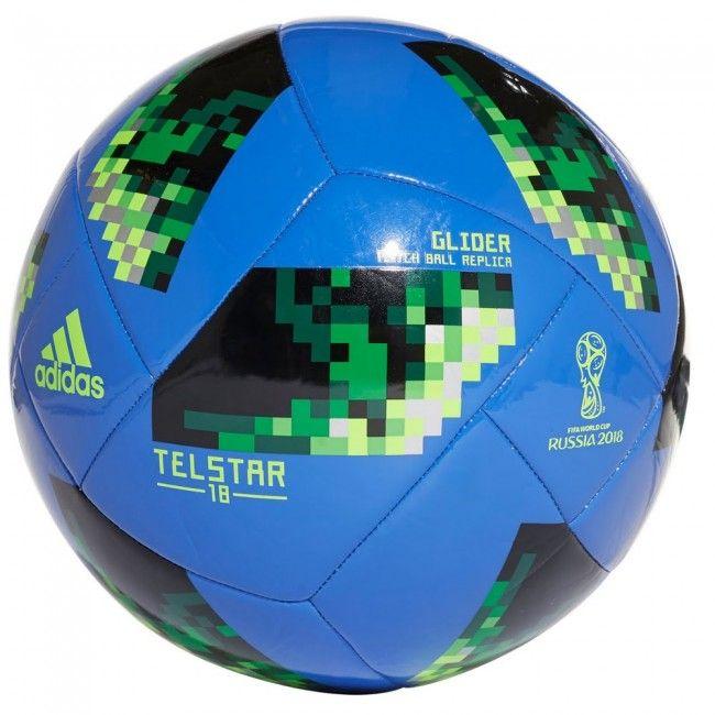 d2a8f8e0aacd3 Balón de fútbol Mundial 2018 Telstar Glider - Azul Verde  football  balon   pelota  futbol