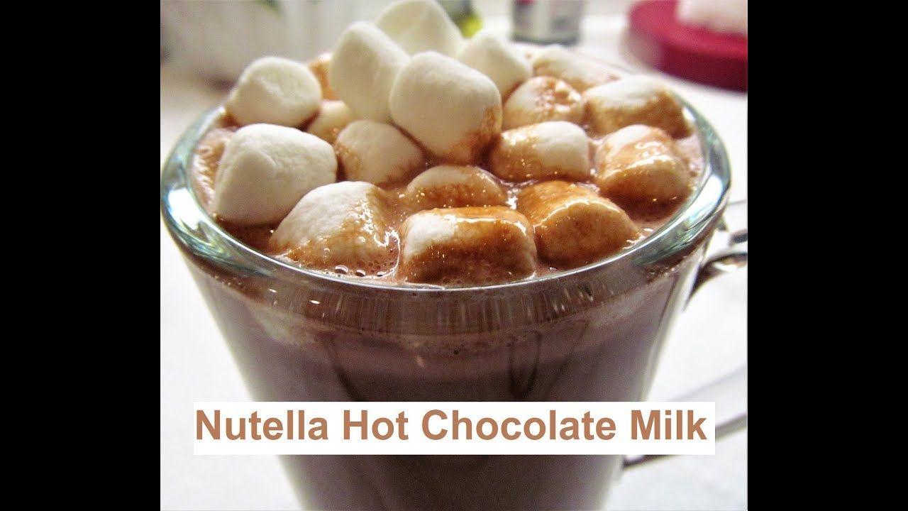 Nutella Hot Chocolate Milk شراب النوتيلا و الشوكولاتة الساخن Recipe Hot Chocolate Milk Nutella Hot Chocolate Food
