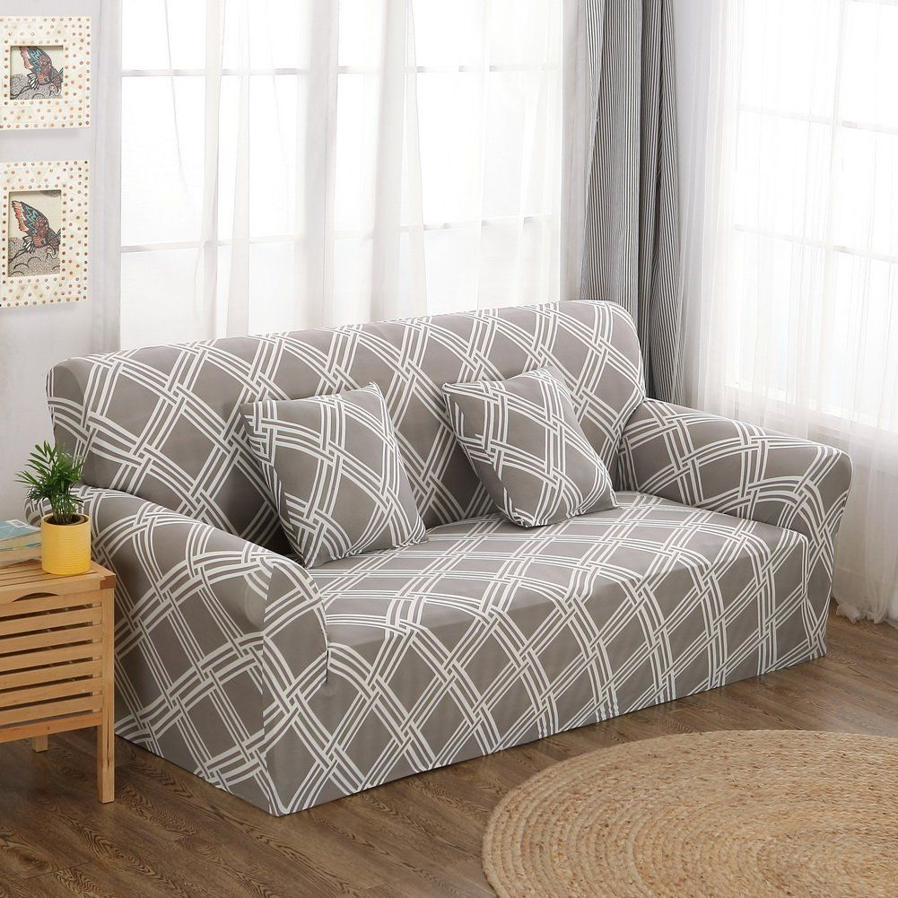 Amazon Com Forcheer Sofa Cover Couch Covers Stretch Printed Sofa