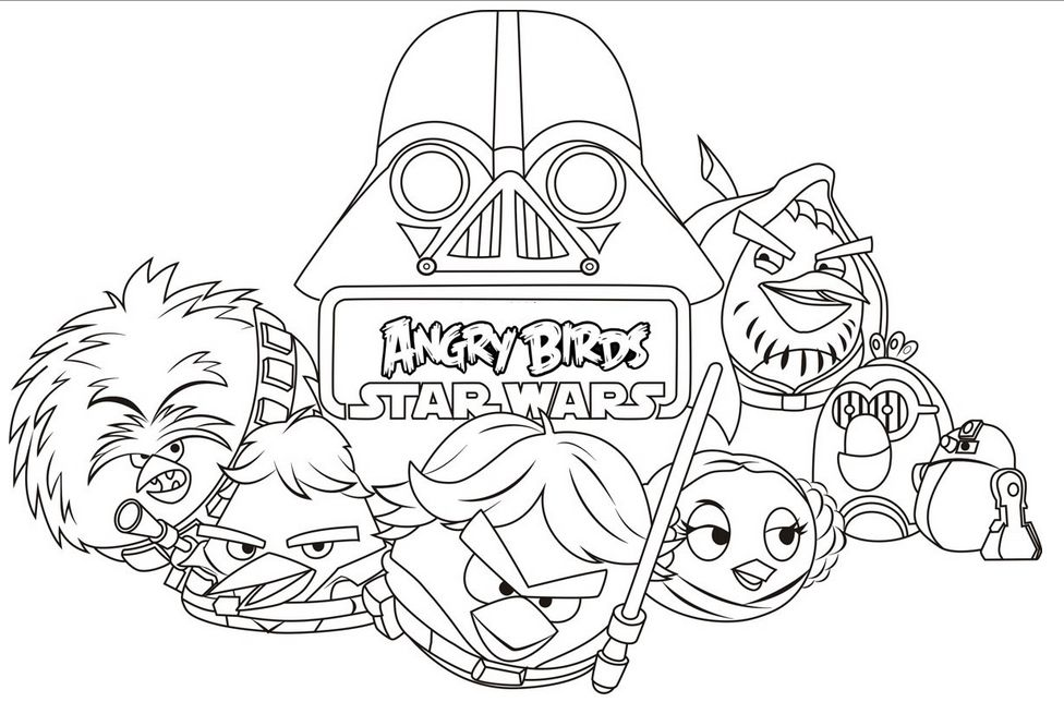 Coloring Angry Birds Star Wars Coloring Pages Pd On Free Printable
