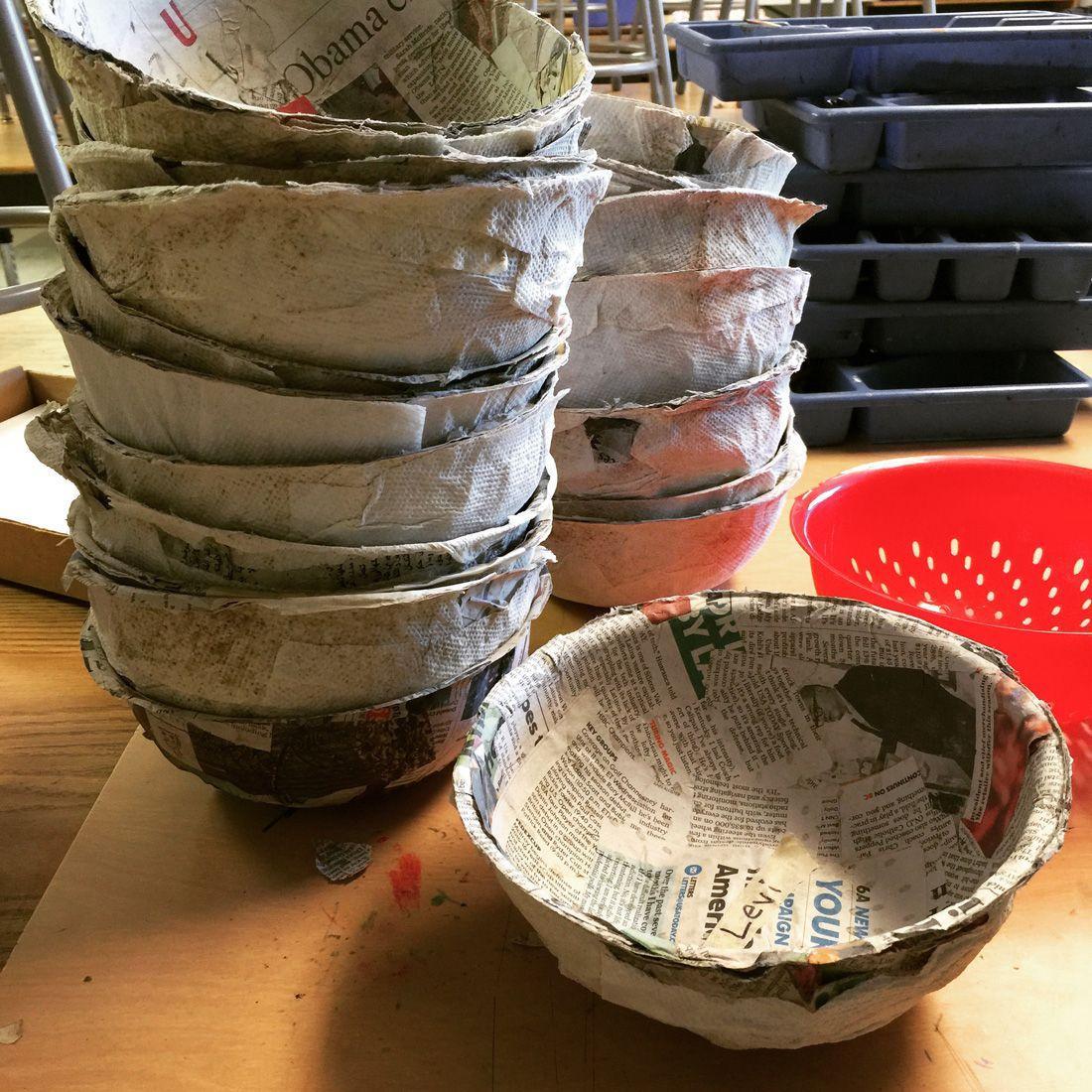 Easy paper mache bowls paper mache bowls paper mache for Paper mache activities