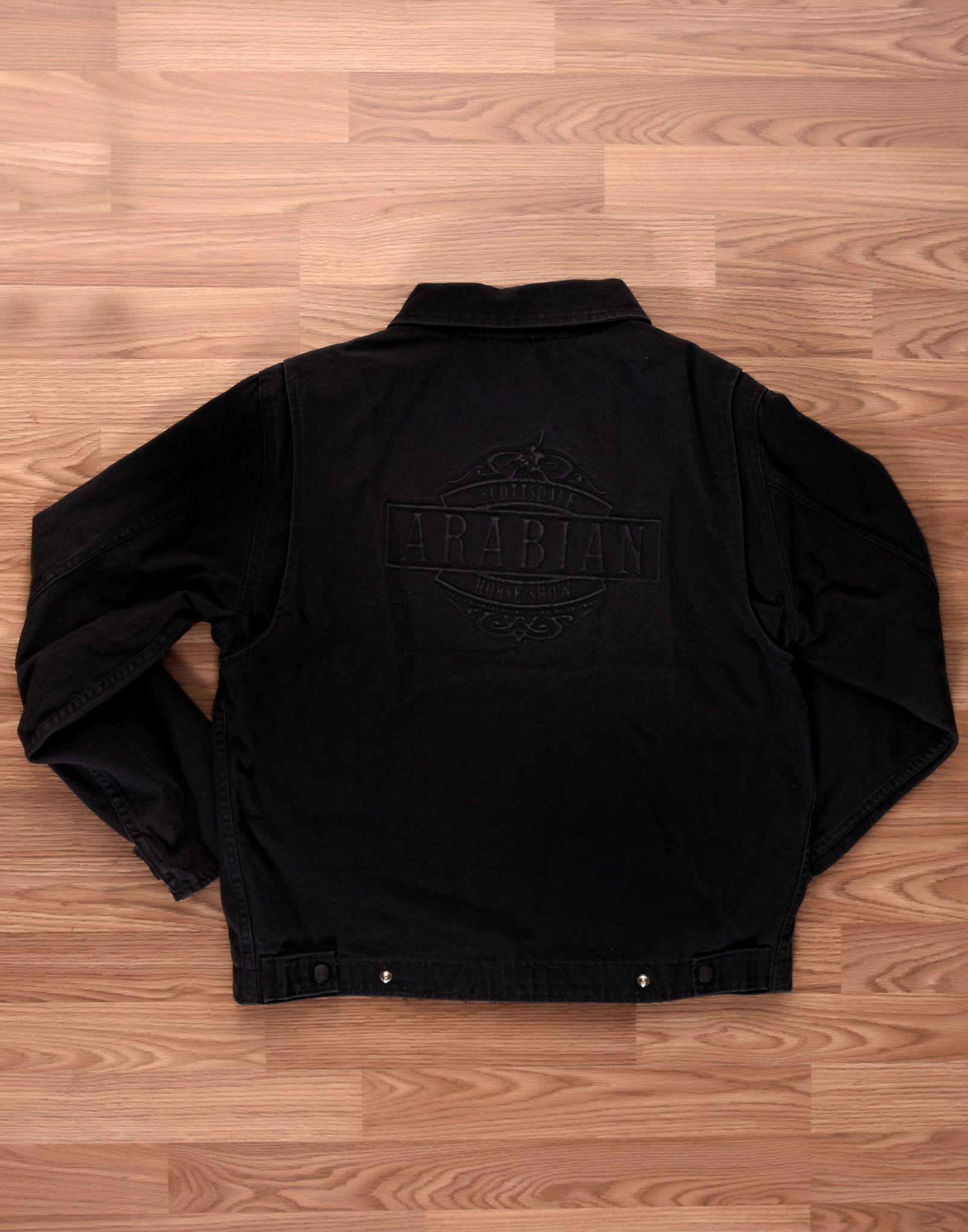 Men's Black Debossed Jacket