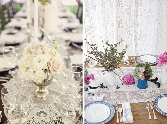 Is There Such Thing As Too Much Lace At A Wedding Runnerlace Table