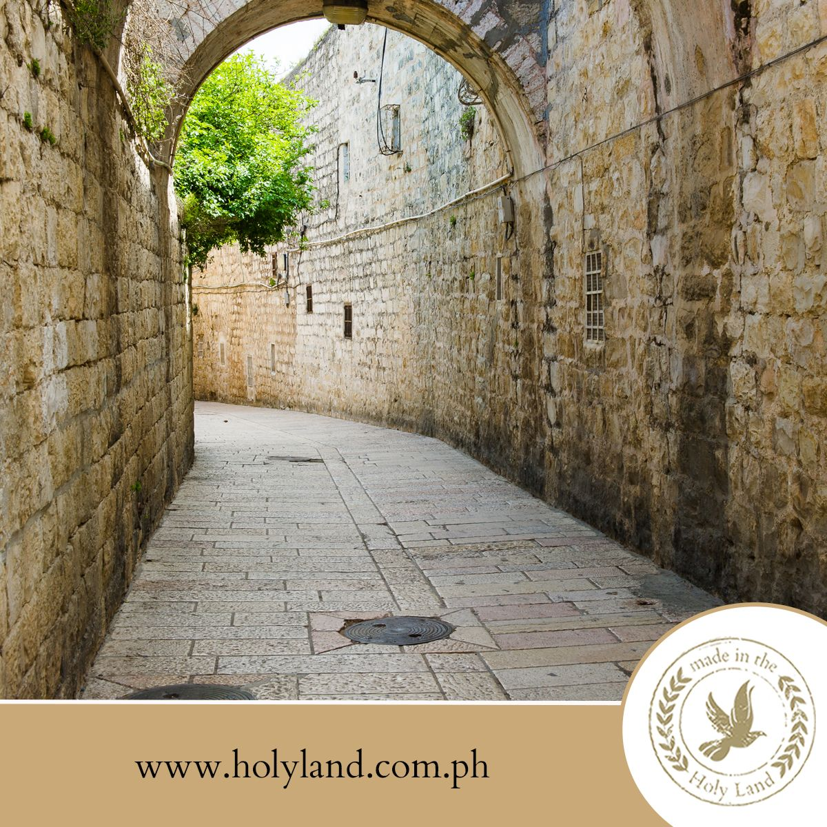 FACT ABOUT THE HOLY LAND: The Via Dolorosa is a street, in two parts, within the Old City of Jerusalem, held to be the path that Jesus walked, carrying his cross, on the way to his crucifixion, and ultimately, his bodily resurrection from the dead three days later.