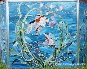 STAINED GLASS PATTERNS BEACH SCENES – Free Toy Patterns | stained ...