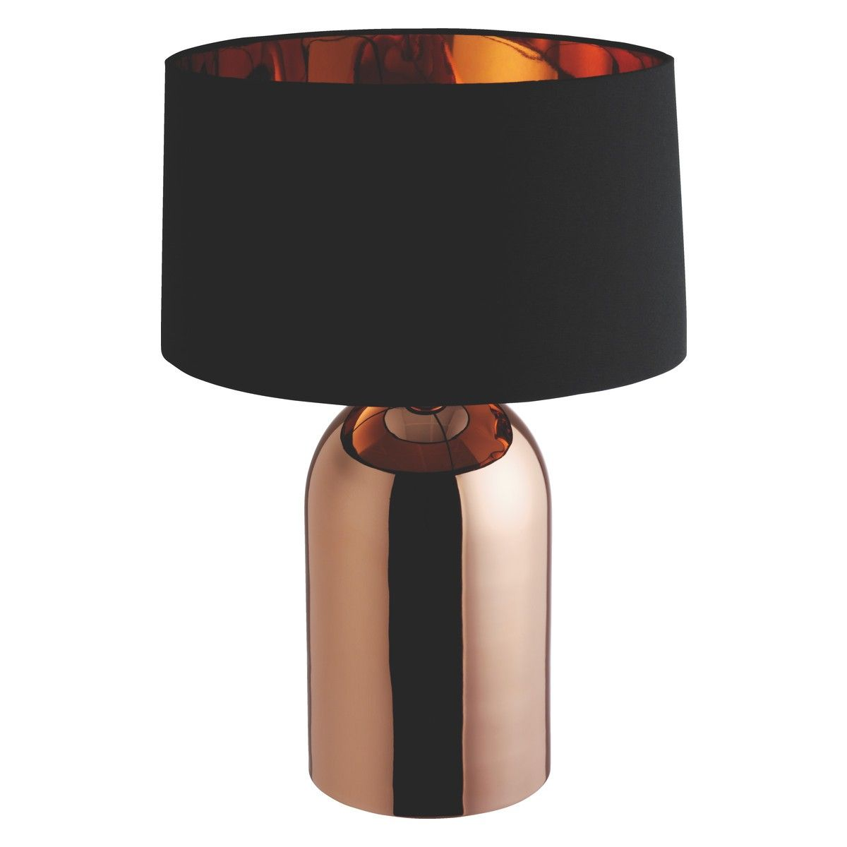 Hallie Copper Table Lamp With Black And Copper Shade Copper Table Lamp Copper Lamps Copper Table