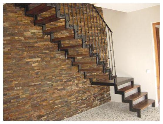 Barandilla madera buscar con google escaleras for Escaleras en escuadra