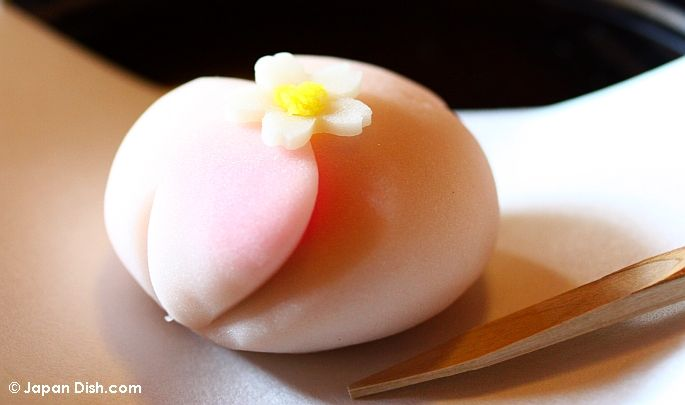 beautiful spring themed wagashi. Japanese tea time.