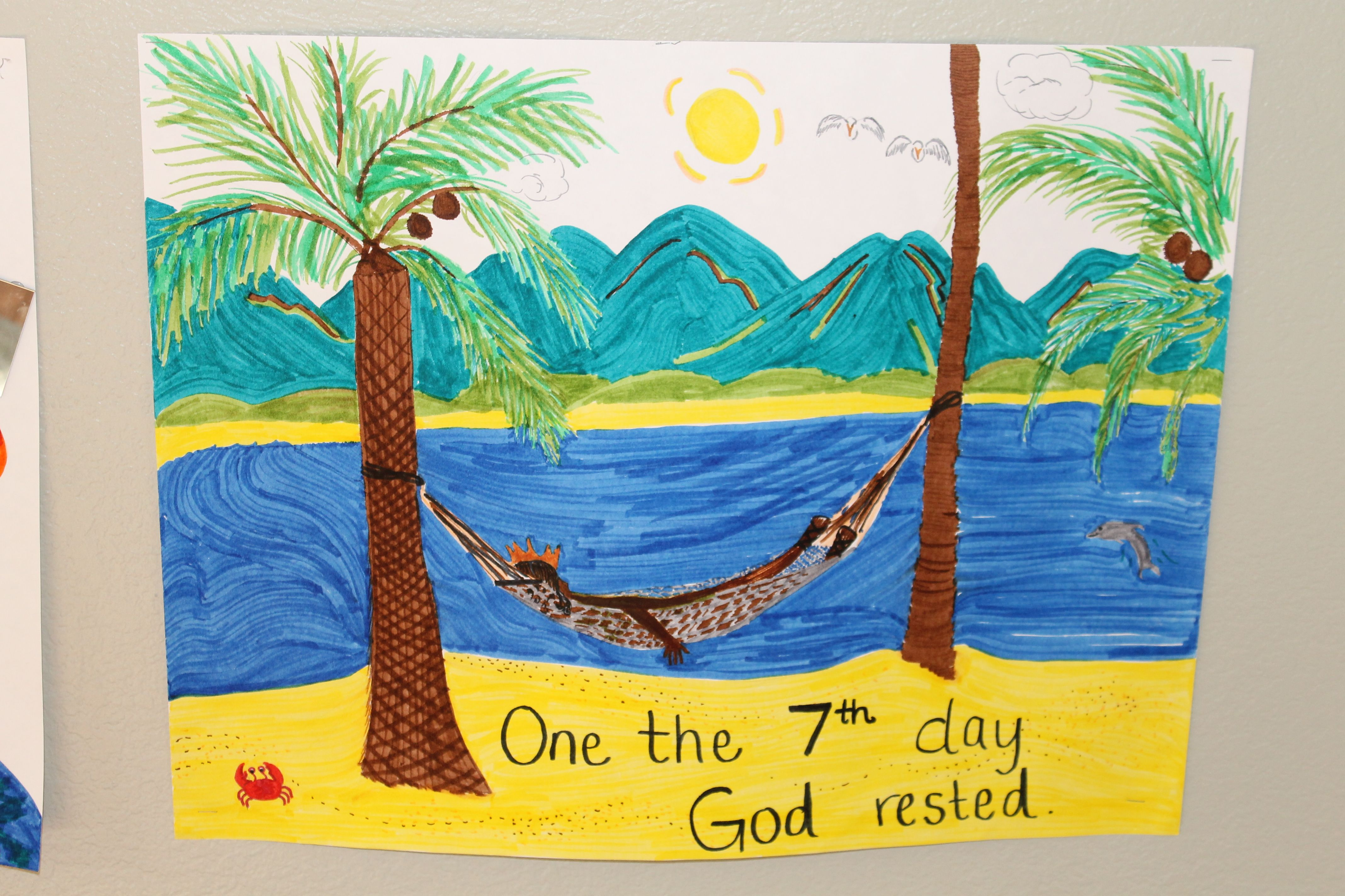 Creation Day 7 Classroom Poster God Rested