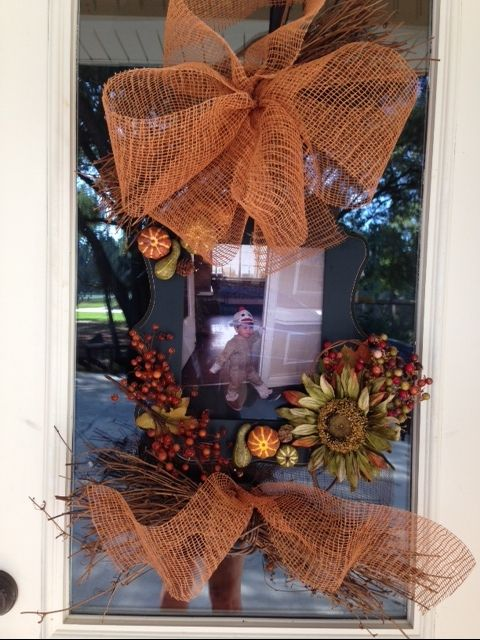 Fall Wreath using a Hobby Lobby Picture Frame Thanksgiving and - hobby lobby halloween decorations
