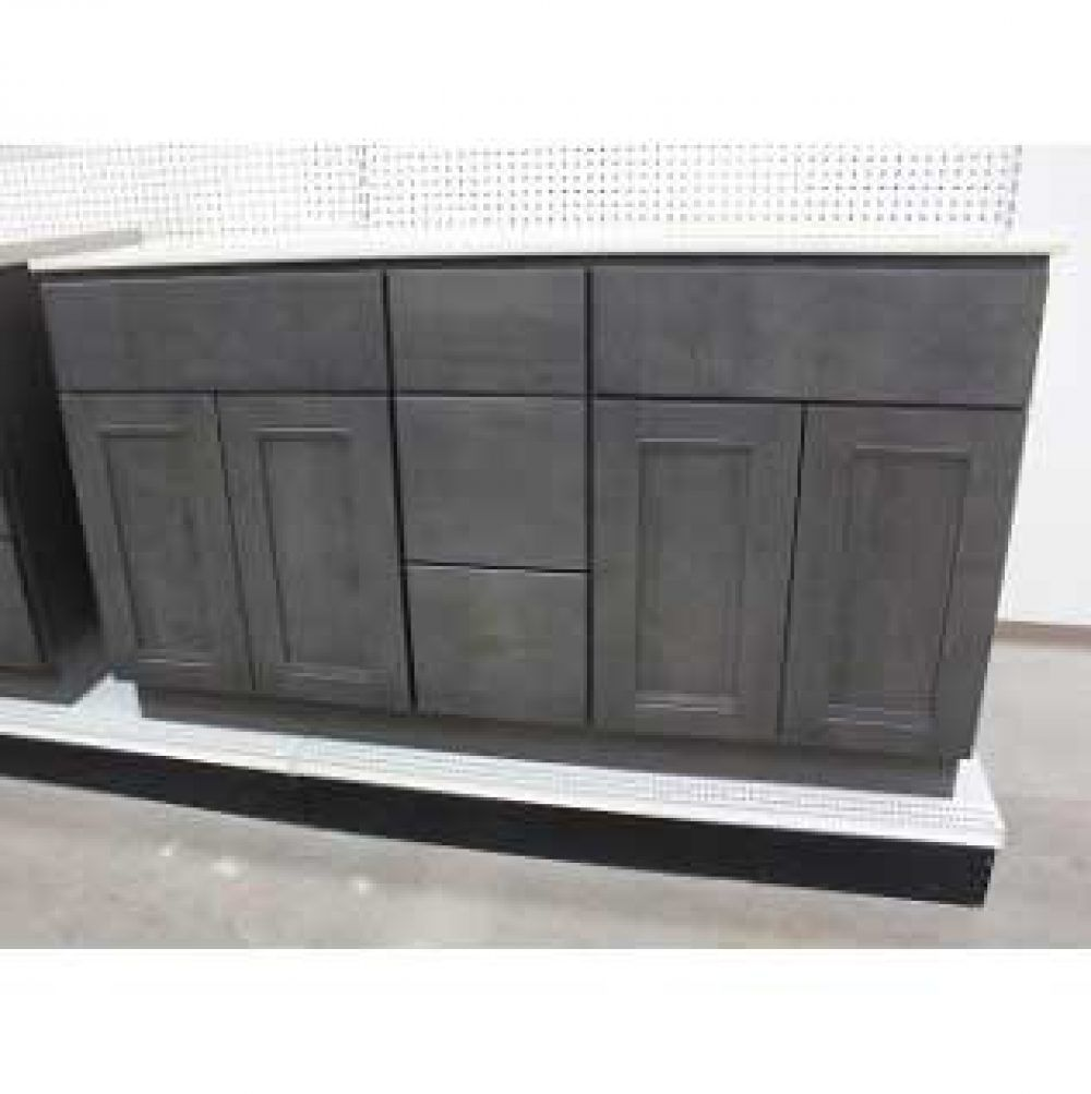 Graphite Shaker Vanity Kitchen Cabinets In Bathroom