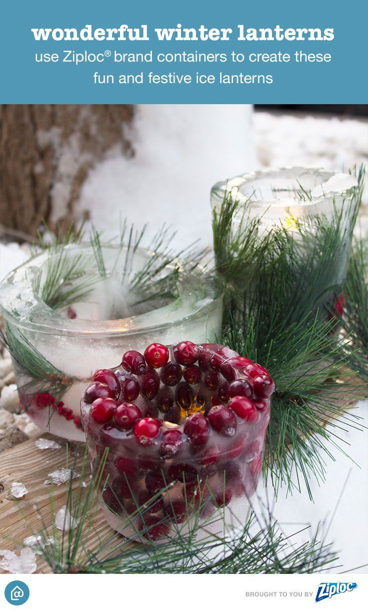 These Easy Diy Ice Lanterns Add Shine To Your Porch First Add 1 C Water To A Large Ziploc