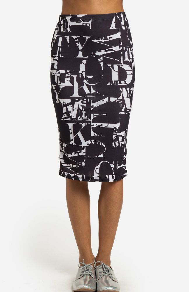 cute letter skirt from dailylook.com