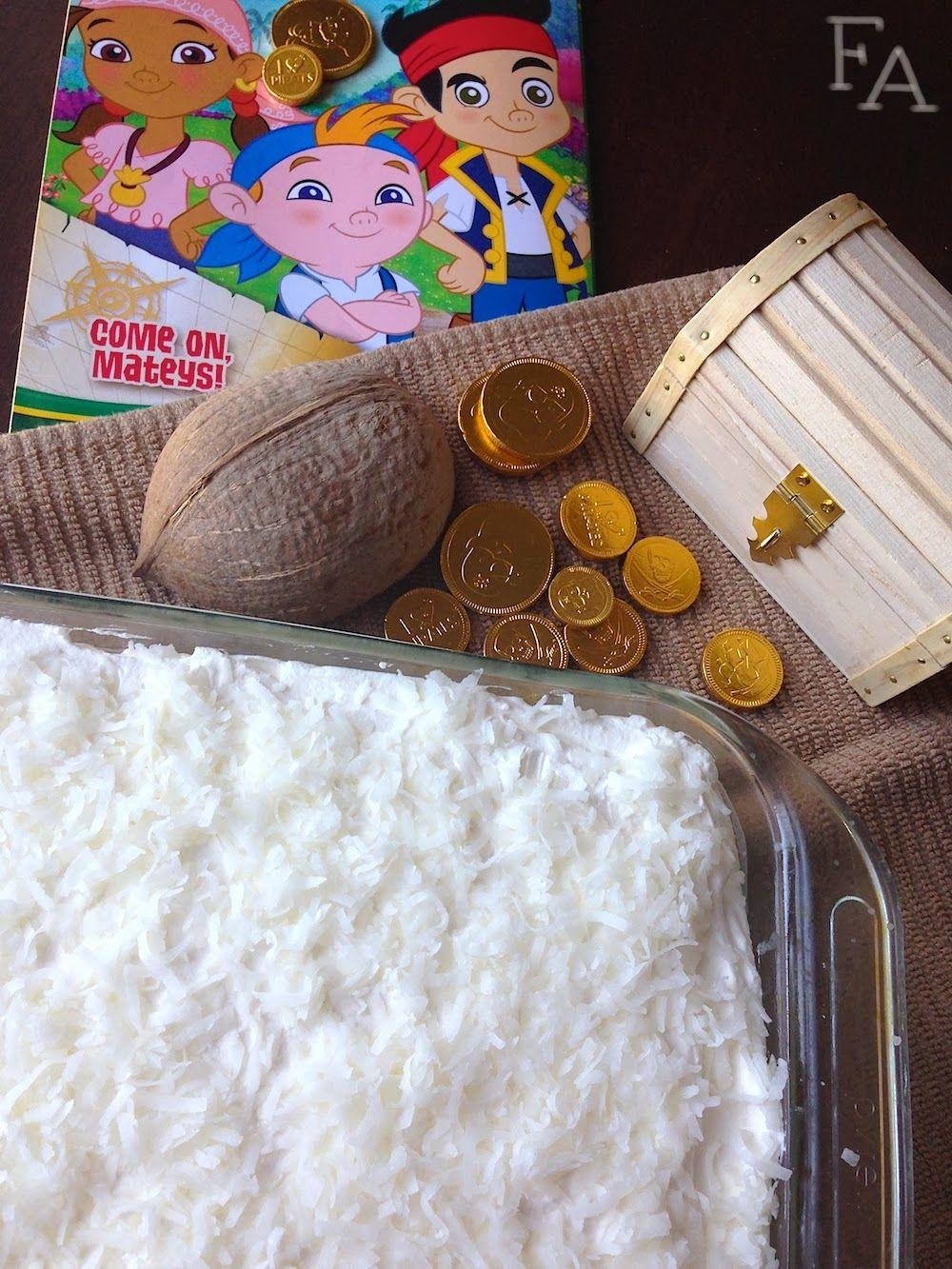 Cubby's Coconut Cake for #DisneyJunior's #JakeandtheNeverlandPirates!